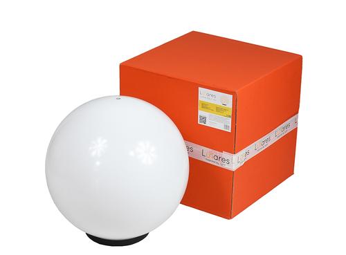 Ball Decorative White Gloss - Luna Ball 40 cm cu set de asamblare, cablu de 3m, post de fixare