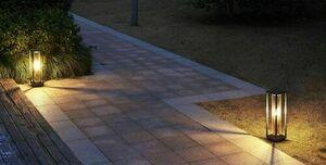 Lampa de podea de gradina Porto 50cm + bec cu filament LED small 1