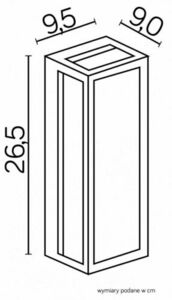 Porton de perete exterior sconce + bec cu filament LED small 2