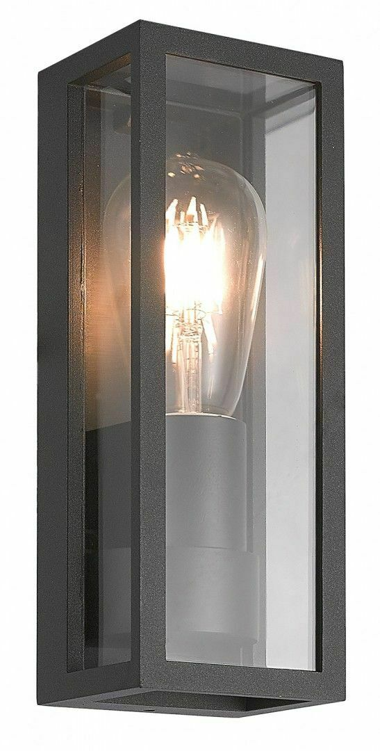 Porton de perete exterior sconce + bec cu filament LED