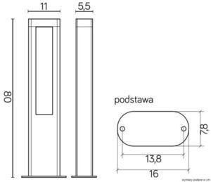 Lampa de exterior EVO LED 80cm, gri închis small 3