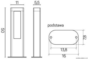 Lampă de exterior EVO LED 50cm, gri închis small 3