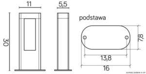 Lampă de exterior EVO LED 30cm, gri închis small 2