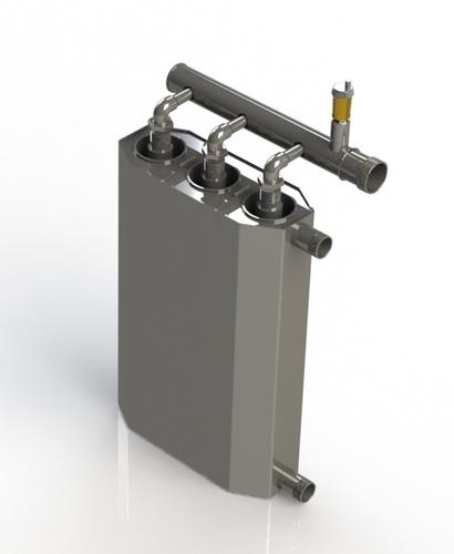 Cazan cu inducție triplu de 15 kw pentru încălzire până la 300m2