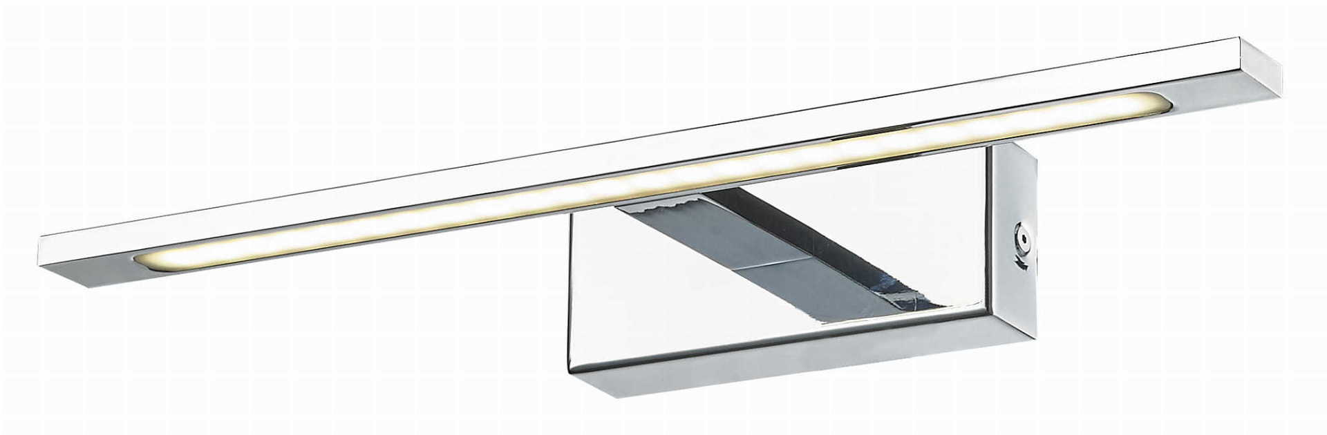 Lampă de perete cu oglindă Isla, crom IP44