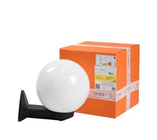 Lampa de exterior moderna Luna Ball 25 cm E27 LED alb