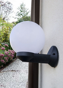 Lampă de grădină de grădină Luna Ball 15 cm E27 alb small 1