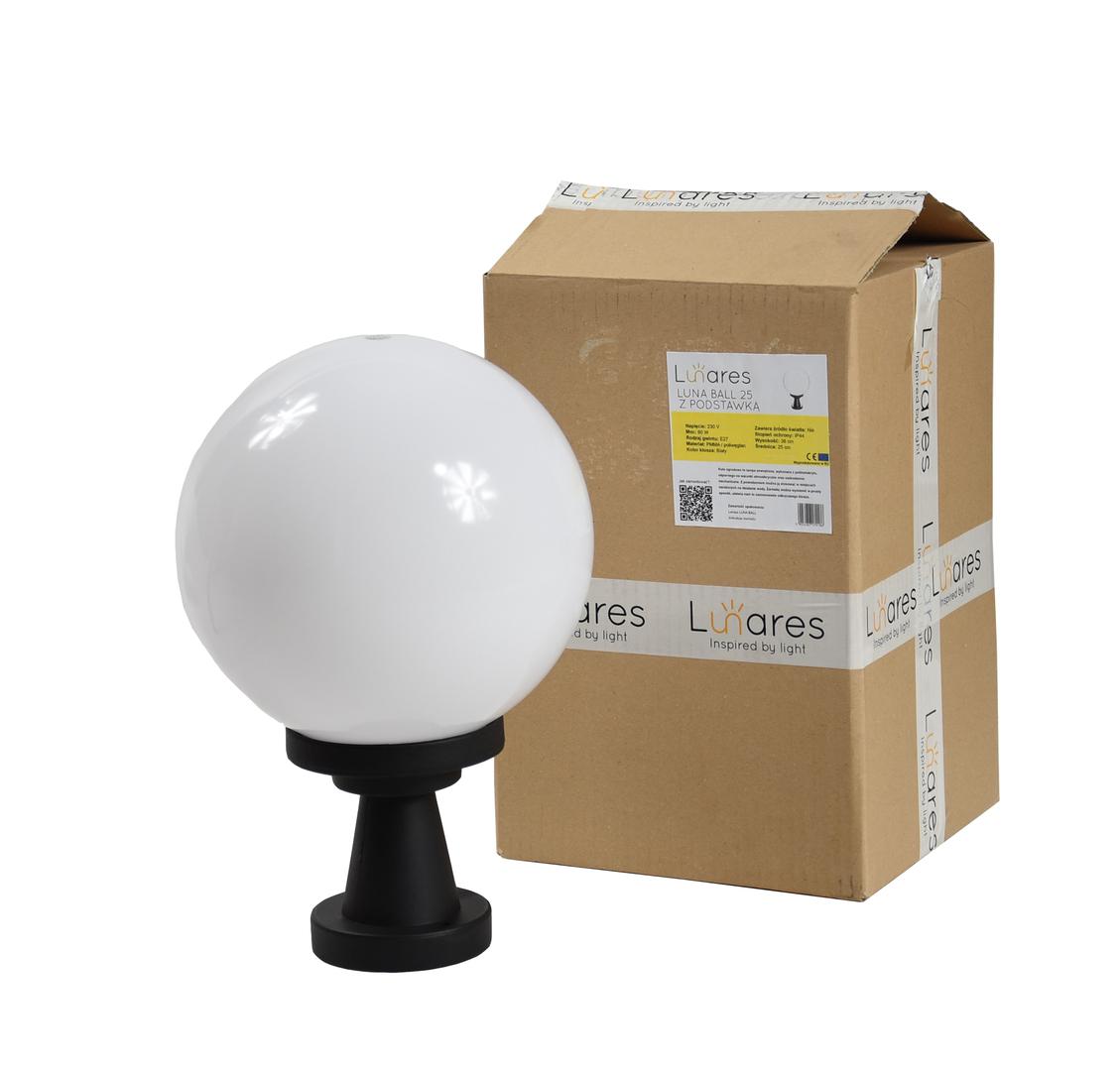 Lampă de grădină Luna Ball Plinto 20 cm E27 LED alb alb