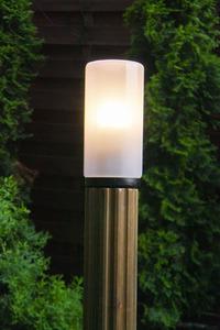 Post de iluminat Lună de abajur 85 cm E27 din lemn alb small 2