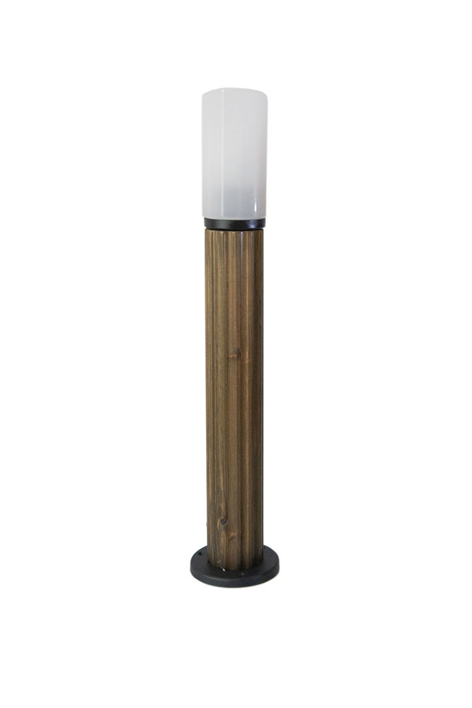Post de iluminat Lună de abajur 85 cm E27 din lemn alb