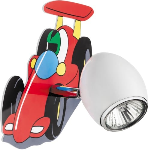 Lampa pentru copil Mașină de curse auto - lampă de perete LED-ul alb / crom GU10 4.5W