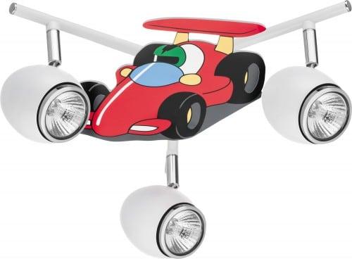 Lampa pentru un copil Mașină de curse auto - LED-ul alb / crom LED GU10 3x4,5W