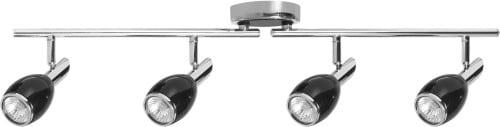Spoturi LED LED negru în 4 puncte