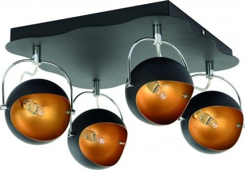 Lampa de tavan Plafon Kana aur negru G9 28W