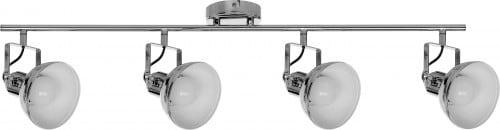 Reflexe - bandă de tavan în 4 puncte Edit crom E27 60W