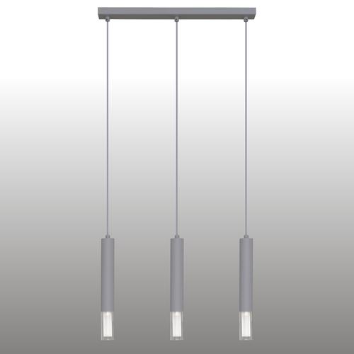 Lampă cu pandantiv gri Kuga cu bandă de 3 M