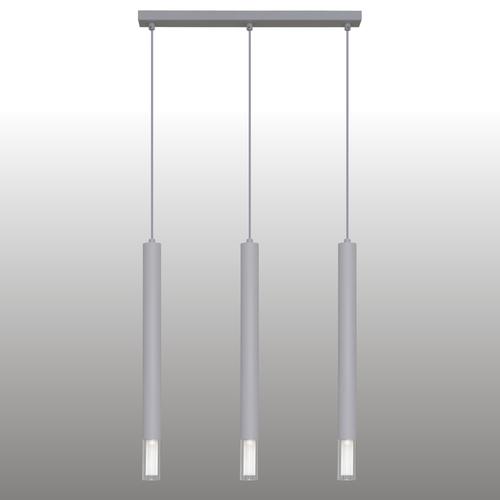 Lampă cu pandantiv gri Kuga 3 dungă