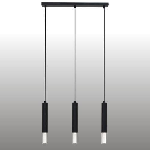 Lampa suspendată Kuga neagră de 3 M