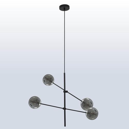Lampa suspendată Rotor 4 nuanță întunecată