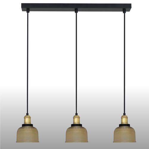Lampa suspendată galbenă Omida 3 bandă