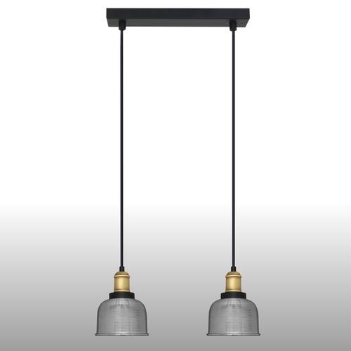 Lampa suspendată din argint Omida 2 bandă