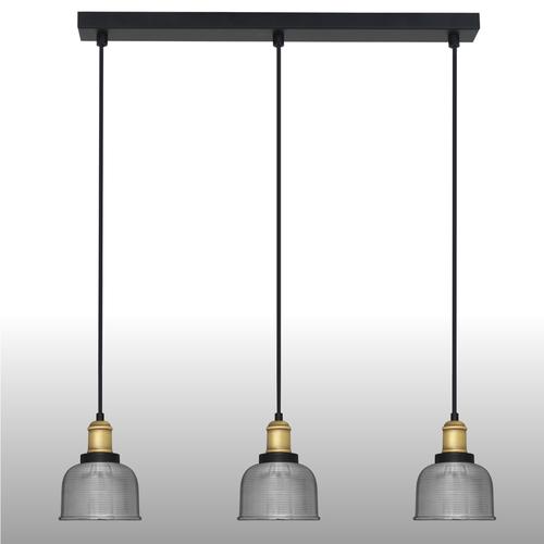 Lampa suspendată din argint Omida 3 strip
