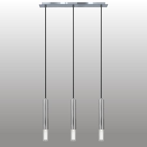 Lampa suspendată cu bandă cromată Kuga 3 M