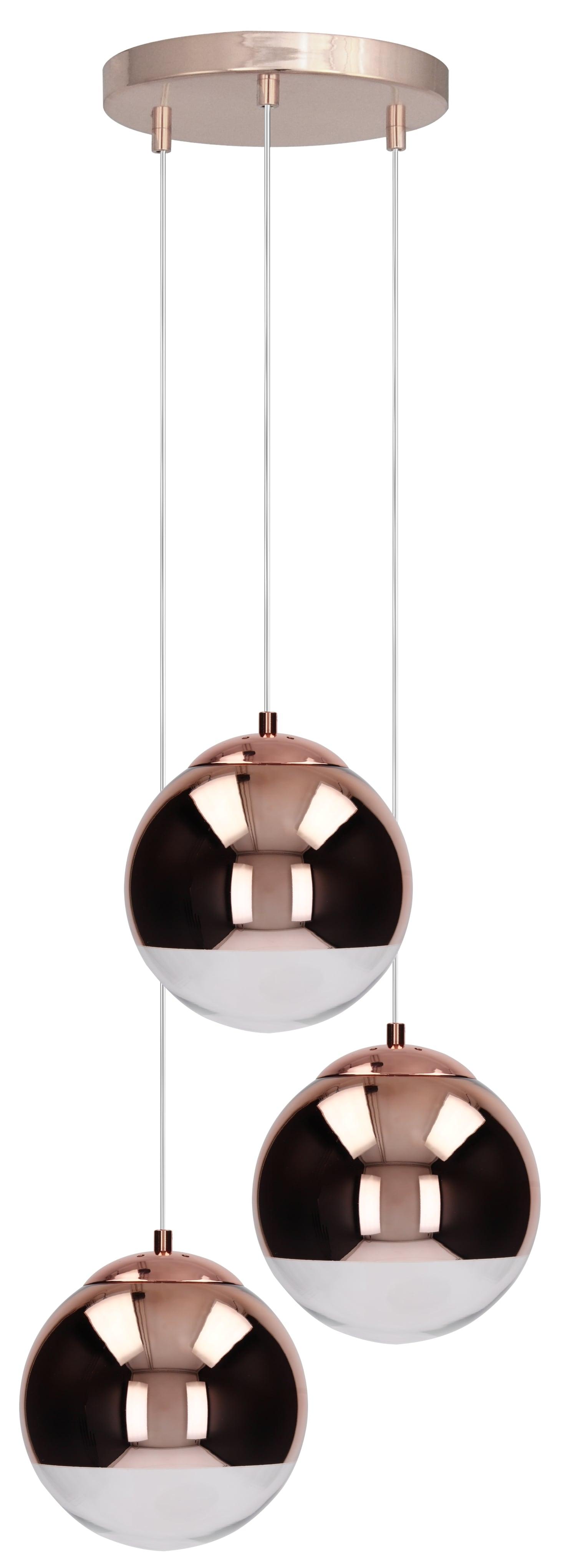 O lampă cu pandantiv triplu din cupru Gino cupru E27 60W