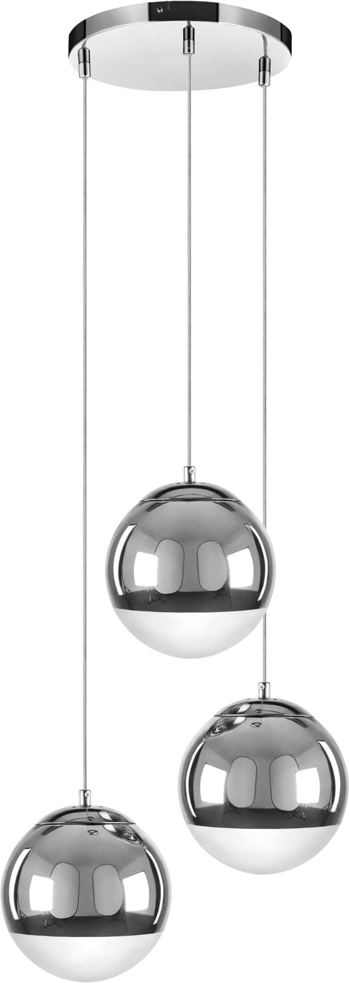 Lampă cu pandantiv triplu Gino crom E27 60W