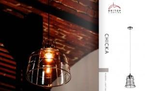 Lampă de plafon Chicka cromată / albă E27 60W small 1