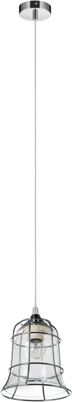 Lampă de plafon Chicka cromată / albă E27 60W