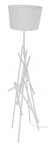 Lampa de podea albă Glenn alb E27 60W