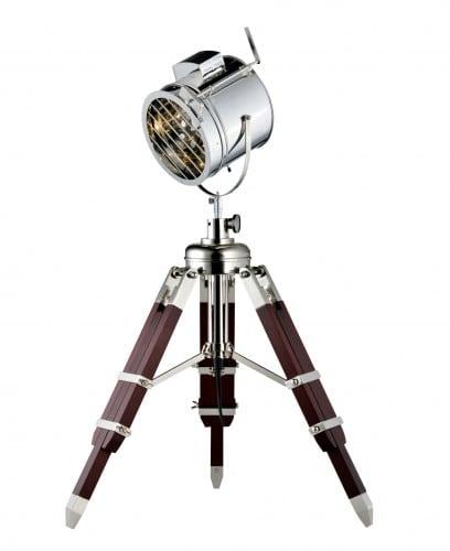 Loft Lampă de podea Film aluminiu / wenge E27 60W