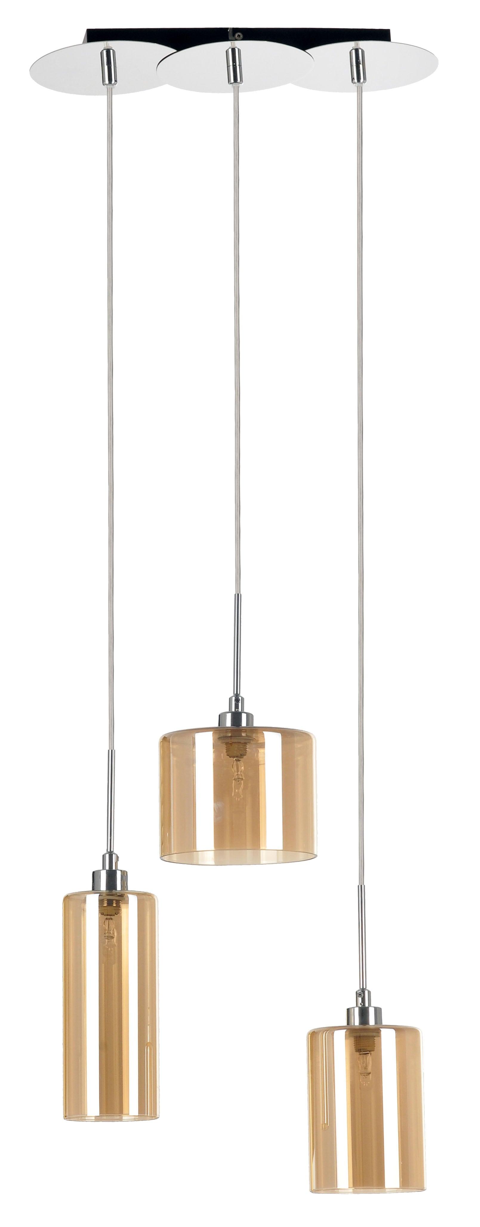 Lampa suspendată Eurybia tripla crom / șampanie G9 28W