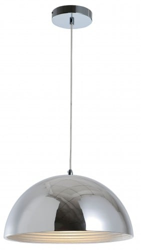 Lampa suspendată la mansardă Mads crom E27 60W