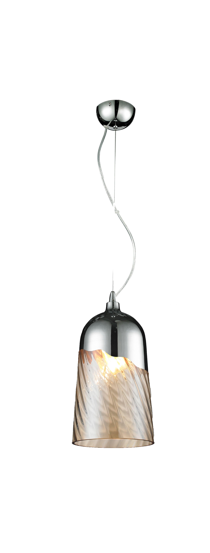 Lampa suspendată modernă Daga Klosz - cromă / transparentă E27 60W