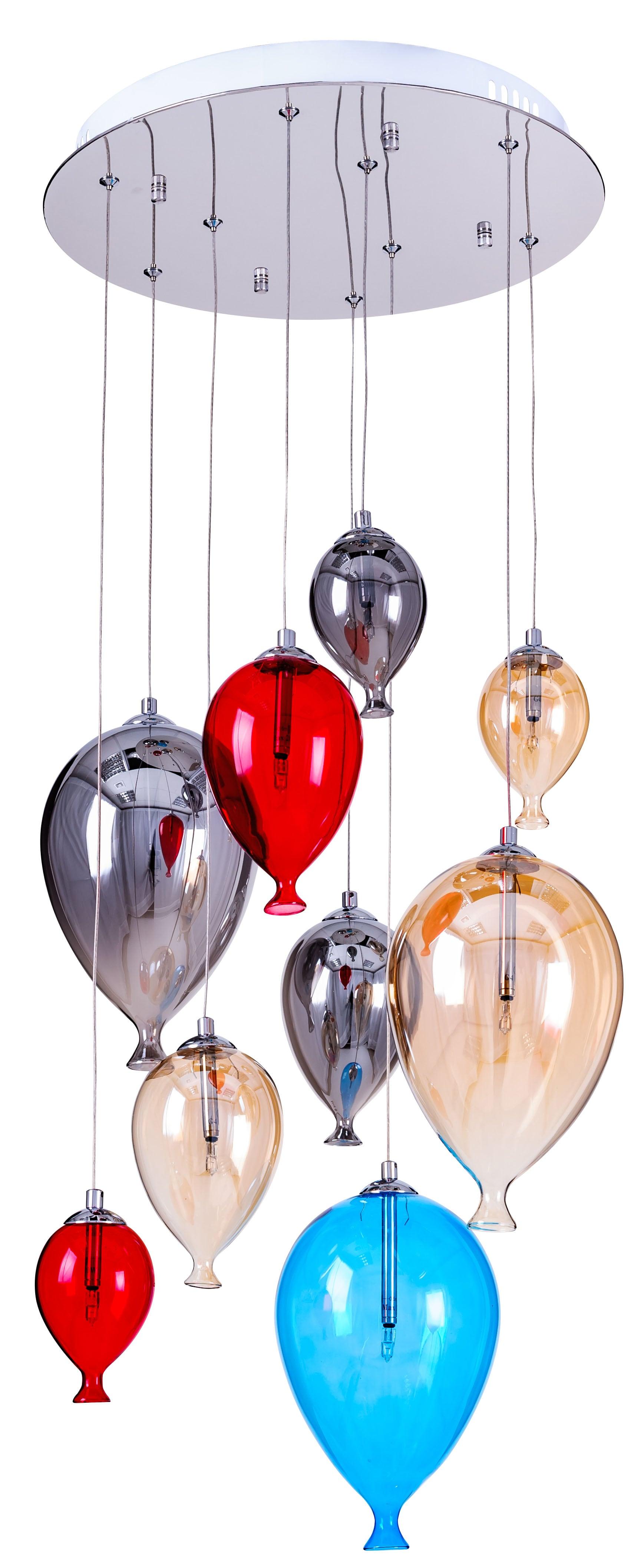 baloane pentru copii pentru lămpi - balon multicolor 160cm / 40cm 9xG4 20W
