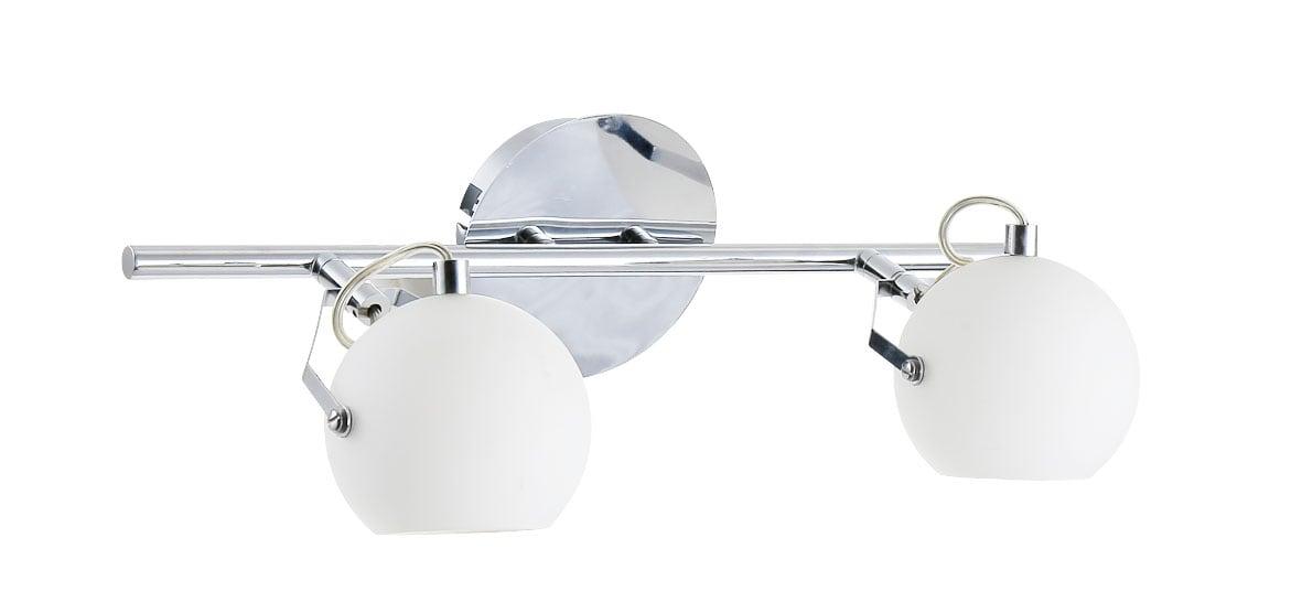 Lampa de perete dublu Ida alb cromat / LED alb 3W