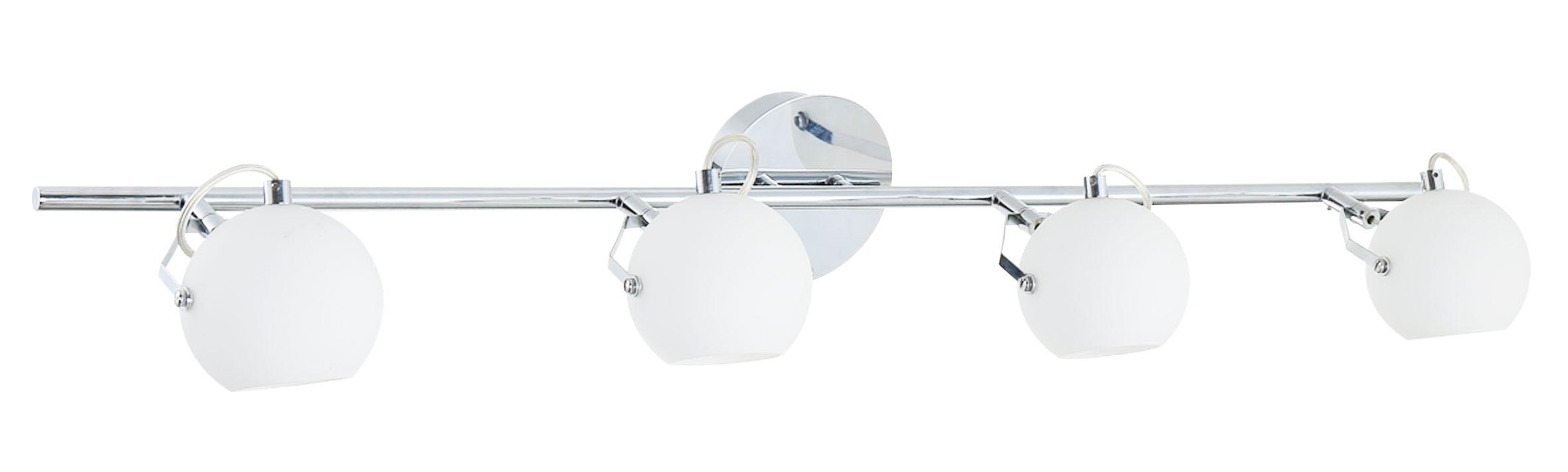 Bandă Ida cu patru puncte cromată / LED alb 3W