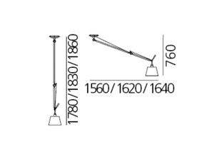 Artemide Tolomeo Decentrata Difuzor suspendat 0629000A (pergament, abajur 36cm) small 2