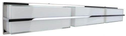 Lampă de perete LED cromat / alb alb 30W