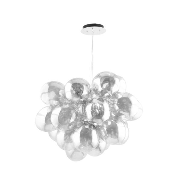 Nowoczesna Lampa wisząca struguri crom / argintiu / transparent G9 28W