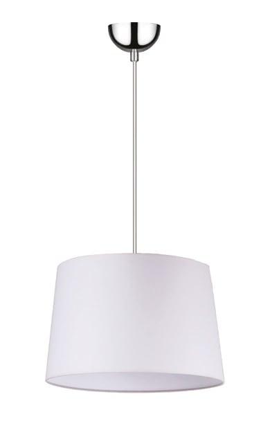 Lampa suspendată albă Alvin / crom E27 60W