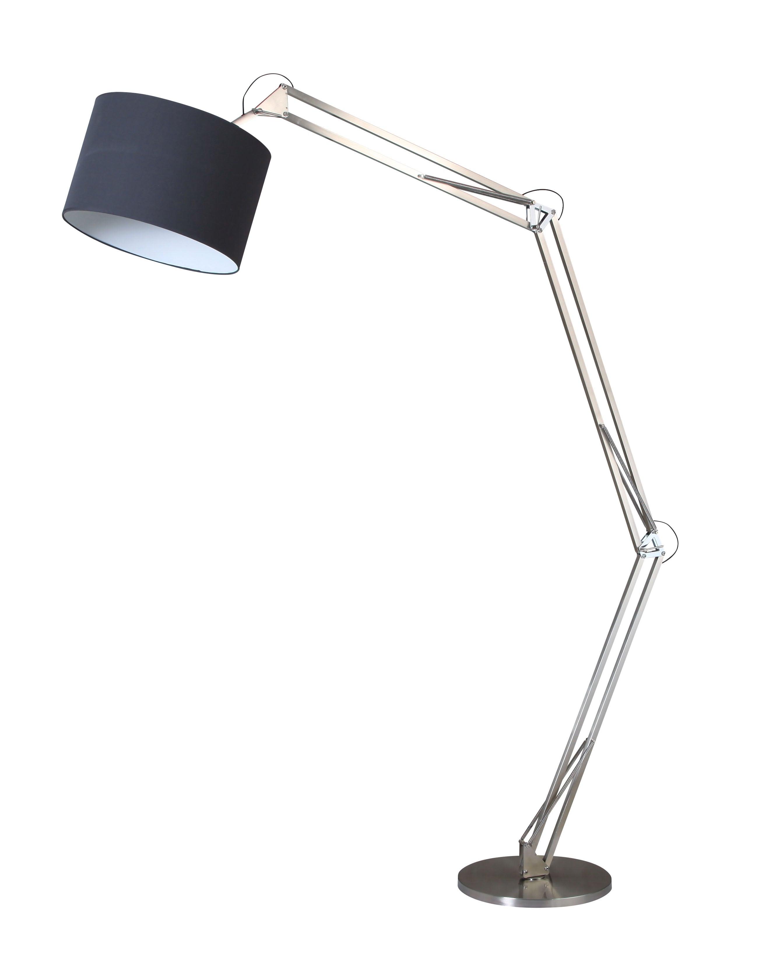 Lampa de podea Chrome Mirani crom / negru E27 60W