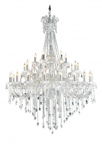 Candelabru Royal Queen transparent E14 40W