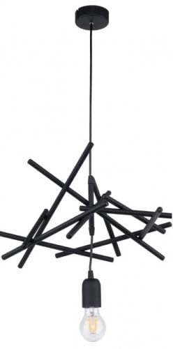 Lampa cu pandantiv negru loft Glenn E27 60W