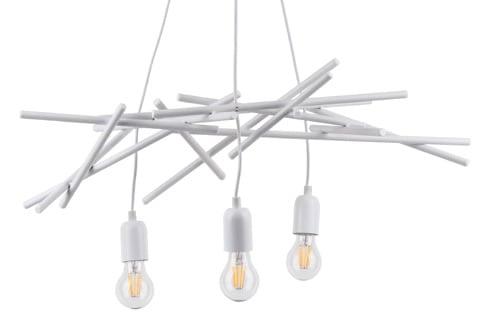 Lampa suspendată pentru iluminarea în trei puncte Glenn alb E27 60W