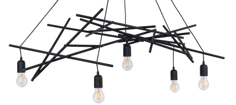 Lampa suspendată Glenn negru E27 60W