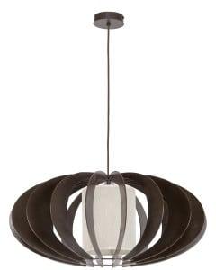 Lampa suspendată exclusiv Keiko wenge / cremă E27 60W small 0