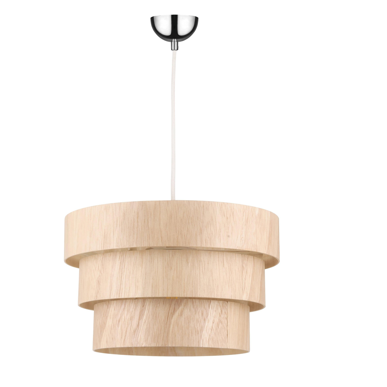 Lampa suspendată rustic Stejar Kazuki Wood E27 60W